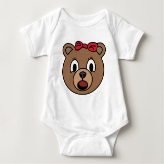 Mädchenbär Baby Strampler