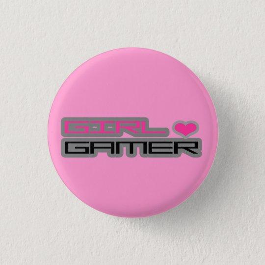 Mädchengamer-Knopf Runder Button 2,5 Cm
