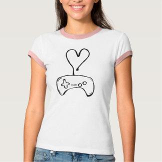 Mädchengamer-T - Shirt mit Prüfer