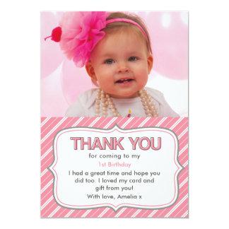 Mädchengeburtstag danken Ihnen zu kardieren Karte