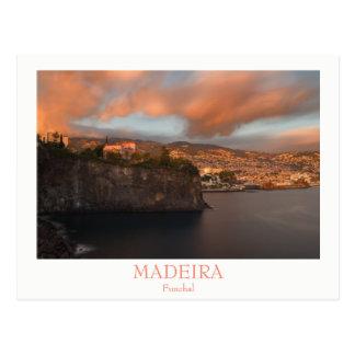 Madeira - Stadt von Funchal-Postkarte mit Text Postkarte