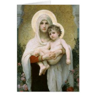 Madonna der Rosen durch Bouguereau Karte