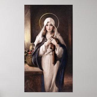 Madonna des heiligen Mantel-Druckes - Kammern Poster