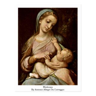 Madonna durch Antonio Allegri DA Correggio Postkarte