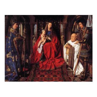 Madonna mit Canon van Der Paele, Jan van Eyck Postkarte