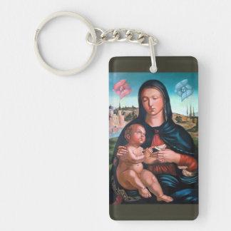 Madonna mit Engeln Schlüsselanhänger