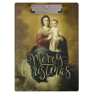 Madonna u. Kind, WeihnachtsKunst-Klemmbrett Klemmbrett