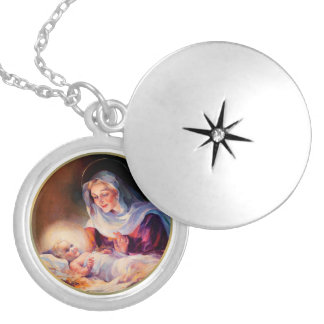 Madonna und Child.Christmas Medaillon