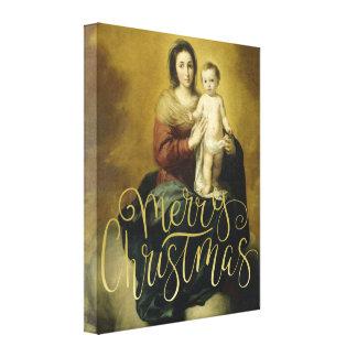 Madonna und Kind, feine Kunst-WeihnachtsLeinwand Leinwanddruck