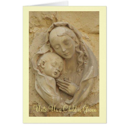 Madonna und Kind Karte