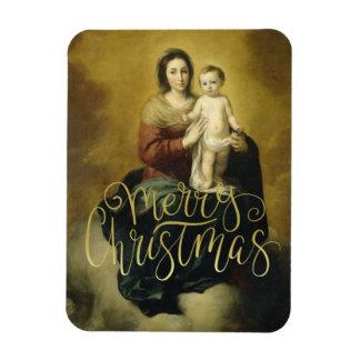 Madonna und Kind, Kunst-Weihnachtsmagneten Magnet