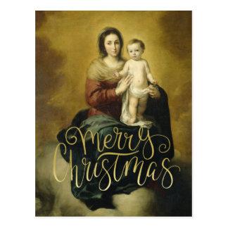 Madonna und Kind, Kunst-Weihnachtspostkarte Postkarte