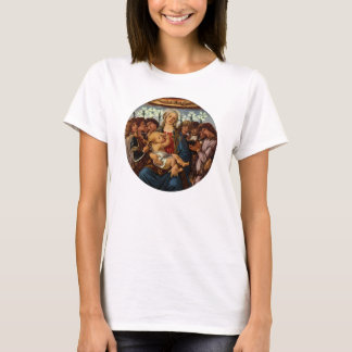 Madonna und Kind mit acht Engeln durch Botticelli T-Shirt