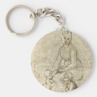 Madonna w Christus u. Johannes der Baptist durch Schlüsselanhänger
