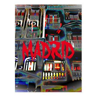 Madrid durch die Nacht in Großen Über ,(Spanien) Postkarte