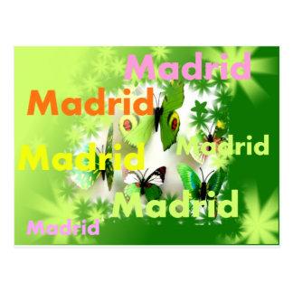Madrid Frühling Überschwemmung von Farben und Postkarte