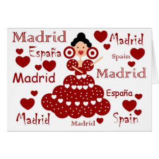 Madrid Spanien flämisches Handgelenk Karte