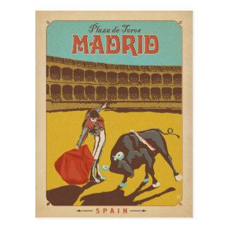 Madrid, Spanien Postkarte
