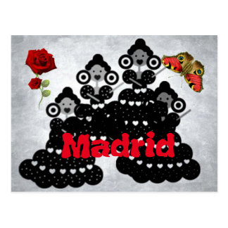 Madrid Spanien. rosen und Schmetterlinge, flämisch Postkarte
