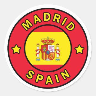 Madrid Spanien Runder Aufkleber