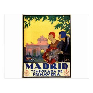 Madrid Temporada de Primavera - Vintages Postkarte