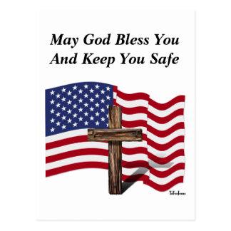 Mag Gott Sie segnen und Sie sicher behalten Postkarte