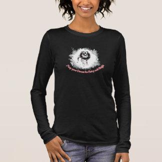 Mag Ihr Weihnachten haarig und hell sein Langärmeliges T-Shirt