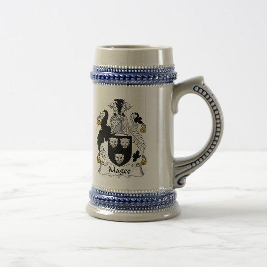 Magee Wappen Stein - Familienwappen Bierglas