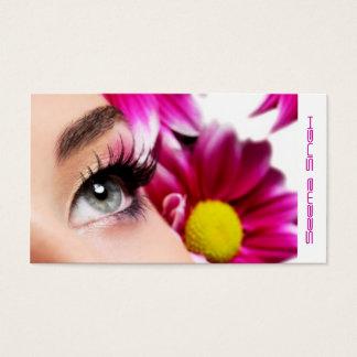 Magentarote Blumen-Make-upkünstlerkosmetik Visitenkarte