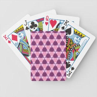 Magentarote lila und rosa Dreieck-Hexe Spielkarten