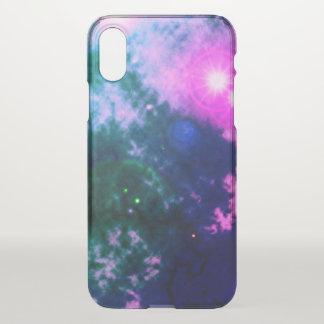 Magentaroter rosa Raum-verbreiteter Nebelfleck und iPhone X Hülle