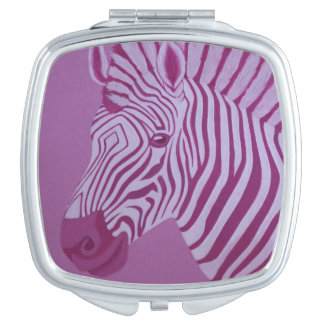 Magentaroter Zebra-Vertrags-Spiegel Taschenspiegel