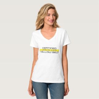 Mageres bestätigt das T-Stück sechs Sigma-gelber T-Shirt