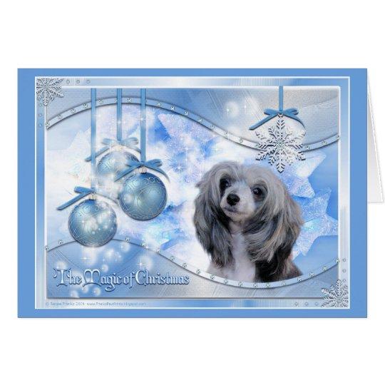 Magie des Weihnachtschinesen Crested Karte