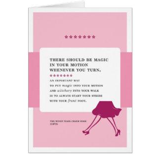 Magie in Ihrem Bewegungs-Vintagen schlechten Rat Karte