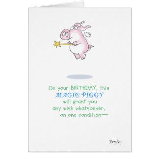 MAGIE PIGGY KARTE