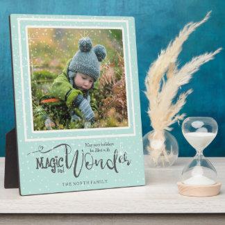 Magie-und Wunder-WeihnachtsFoto-Minze ID440 Fotoplatte