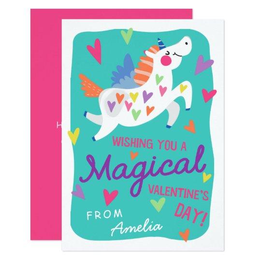 Magische Einhorn Valentinstag Karte Einladung Zazzle Ch