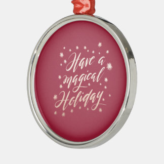magische Feiertag Feiertags-Verzierung Rundes Silberfarbenes Ornament