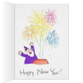 Magische Grußkarte des neuen Jahres durch Nicole