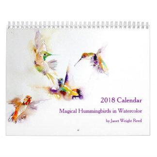 Magische Kolibris in Aquarell 2018 Wandkalender