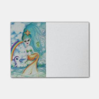 Magische mystische Meerjungfrauen der Liebe I Post-it Haftnotiz