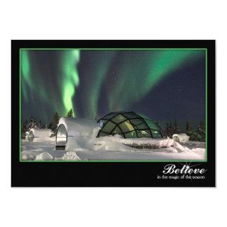 Magische Nordlicht-Weihnachtskarte 11,4 X 15,9 Cm Einladungskarte