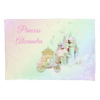 Magische Regenbogen-Prinzessin Castle Carriage Kissenbezug