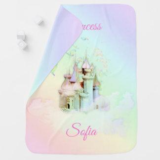 Magische Regenbogen-Schloss-Prinzessin Babydecke