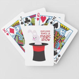 Magische Show Pokerkarten