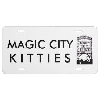 Magische Stadt-Kätzchen-Lizenz-Platte US Nummernschild