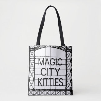 Magische Stadt-Kätzchen-Tasche Tasche
