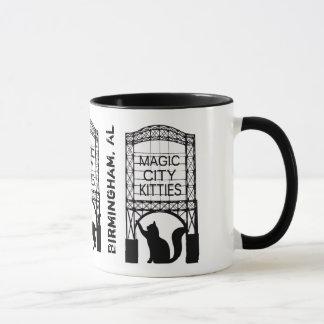 Magische Stadt-Kätzchen-Wecker-Tasse Tasse