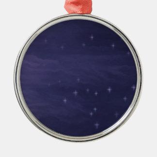 Magische sternenklare Nacht Silbernes Ornament